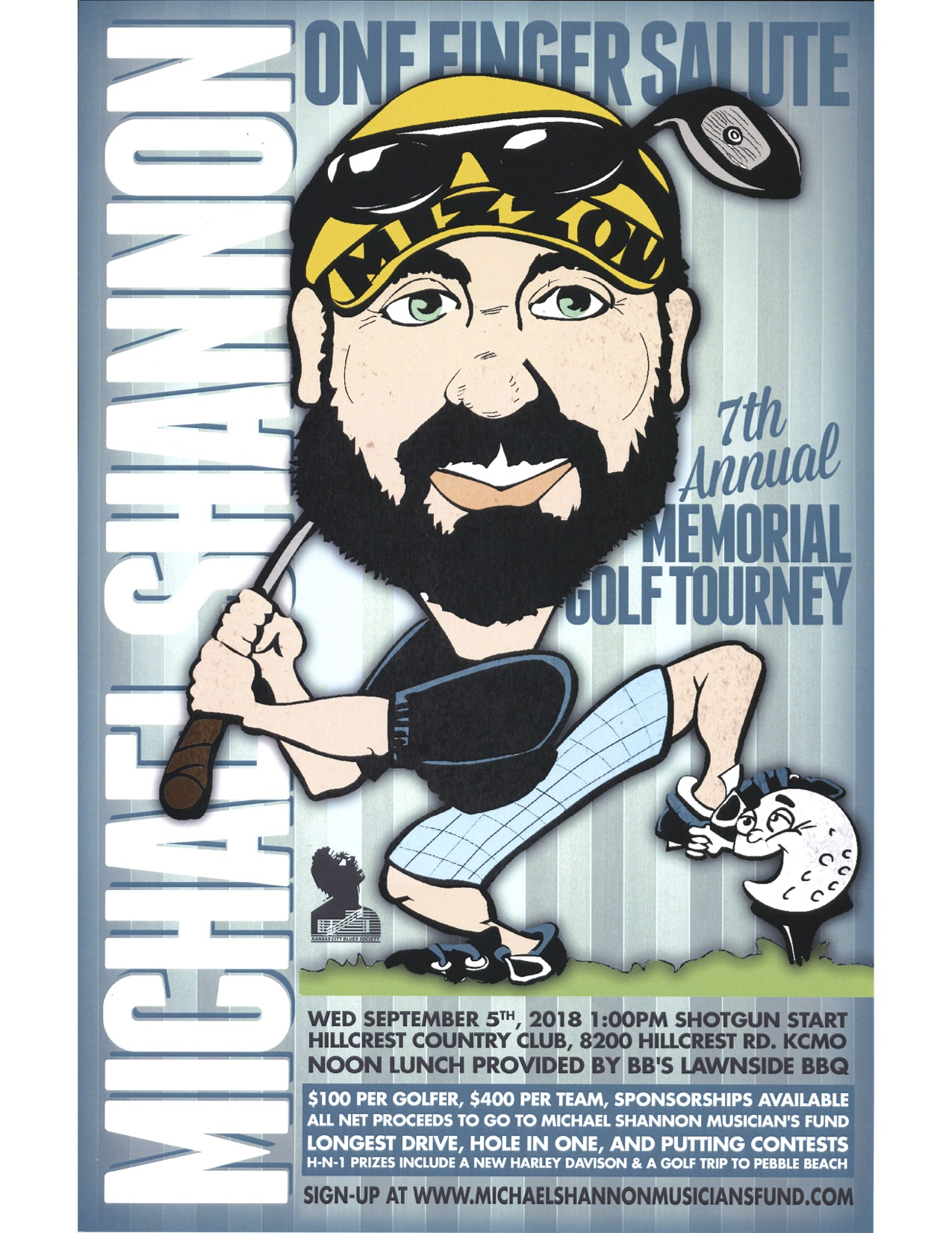 Mike Shannon Golf Tournament poster 2018