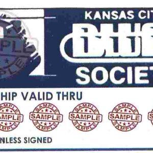 image of Kansas City Blues Society membership card