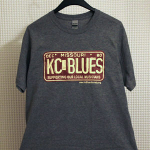 KC Blues on Missouri license plate tee shirt